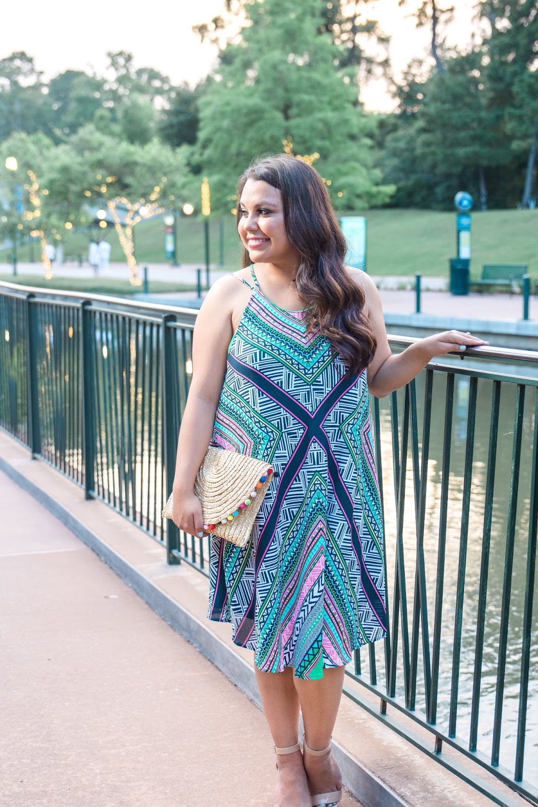 colorful vacation dress