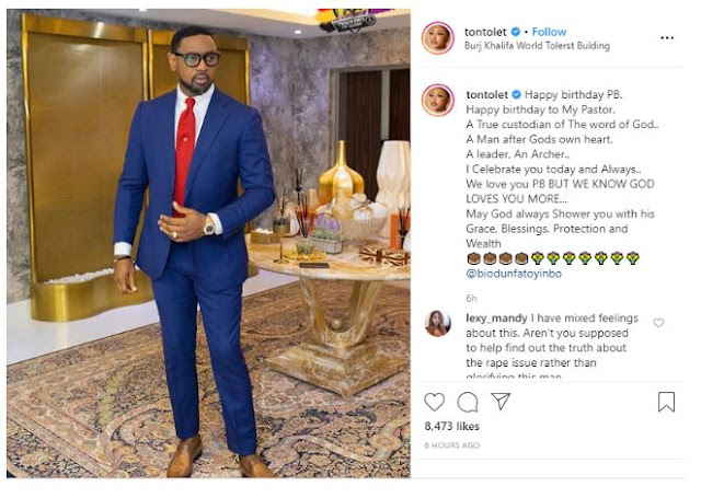 Happy birthday sir, Thank you for letting God use you to bless the world – Tonto Dikeh tells Pastor Fatoyinbo