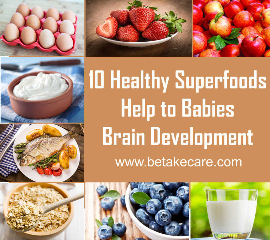 10 Healthy Superfoods help to Babies Brain Development