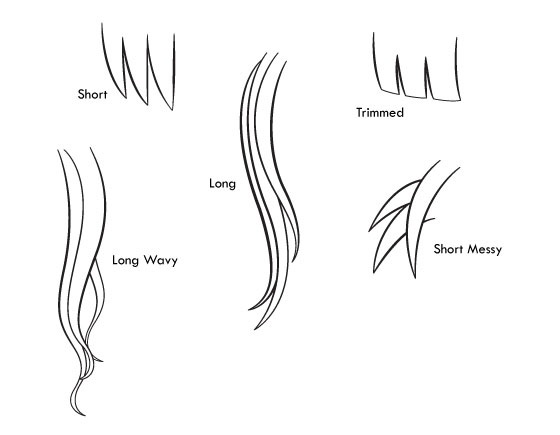 Contoh cara menggambar rambut anime