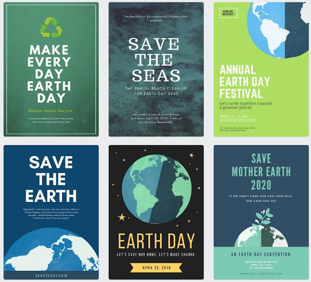 poster kampanye Hari Bumi