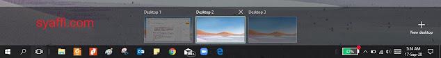32. Tampilan Desktop Virtual Windows 10 pada Desktop 2 syaffi com