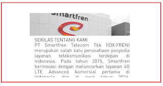 Saat ini bulan Agustus 2019 perusahaan HP PT. Smartfren Telecom Tangerang membuka lowongan kerja terbaru untuk posisi dan persyaratan sebagai berikut :