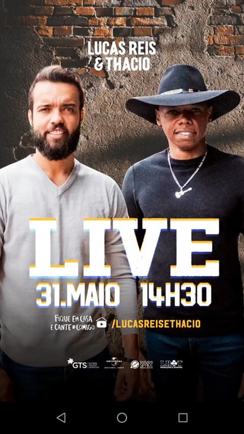 31/05/2020 Live Show de Lucas Reis e Thacio [domingo - 14h30]