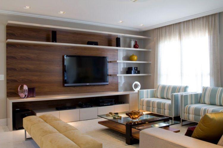 Sala De Tv Com Gesso ~ Sala de Estar com TV Modernas  Consultoria de Decoração Online 3D!