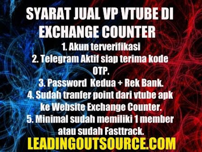 syarat jual vp vtube ke exchange counter terbaru