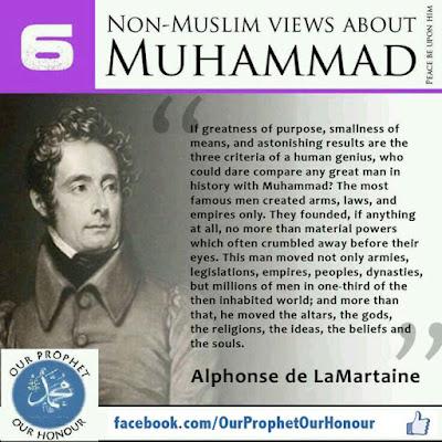 Alphonse de LaMartaine view about Prophet Muhammad (PBUH) by Ummat-e-Nabi.com