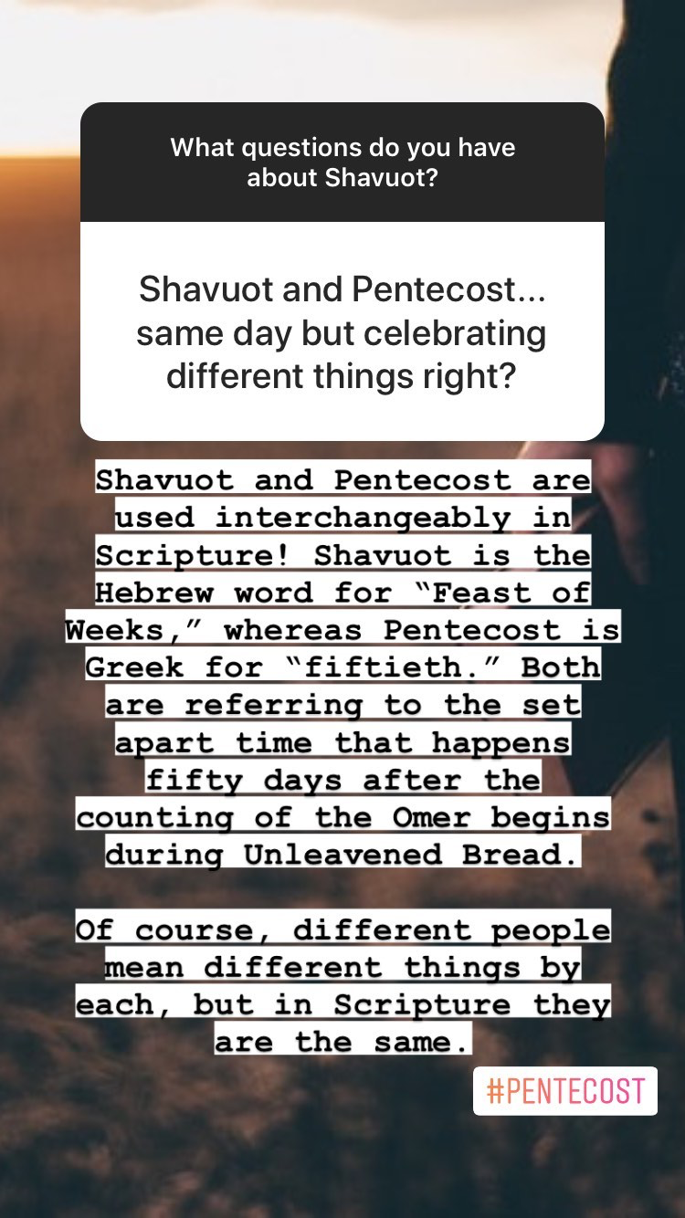 What are the differences between Shavuot and Pentecost? FAQs about Shavuot | Land of Honey