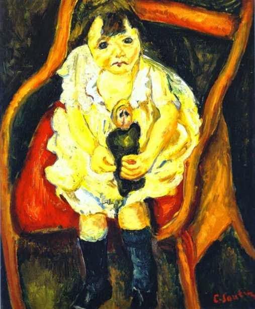 Menina com Boneca - Chaïm Soutine e seu expressionismo violento e atormentado