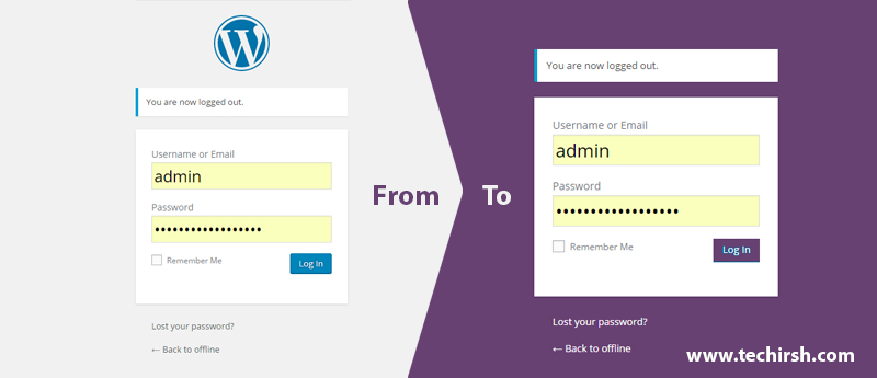 Change default wordpress login page design to a simple and flat ...