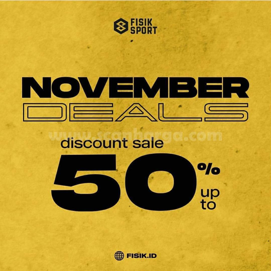 Promo Fisik Sport November Deals Discount Sale up to 50% Off