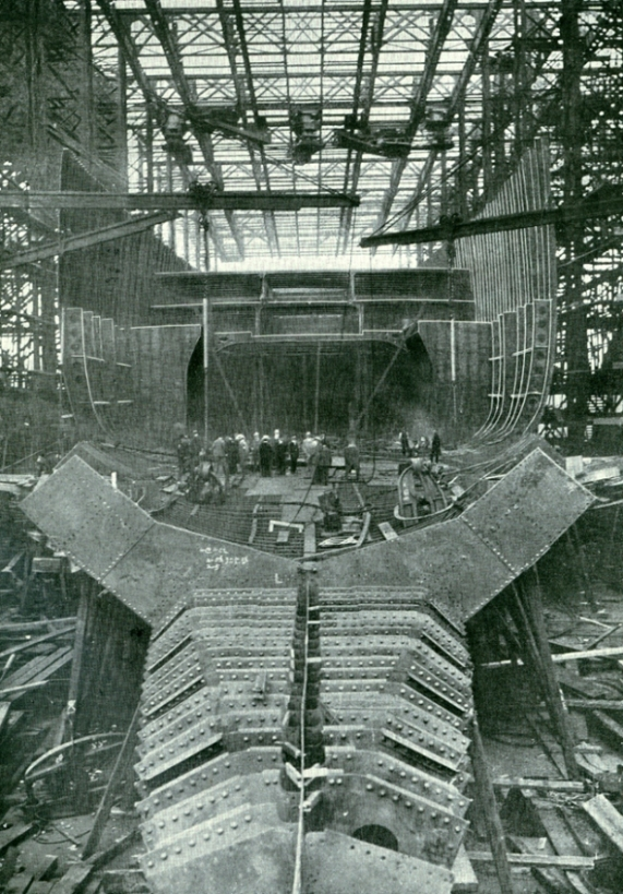 Titanic Engine Room Coal: RMS Mauretania Under Construction: One Of The Most Famous
