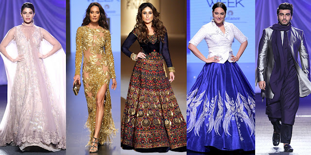 celebrities, showstopper, lakme fashion week 2016, designers, models, photographers, Jacqueline Fernandez, Lisa Haydon, Kareena Kapoor, Sonakshi Sinha, Arjun Kapoor