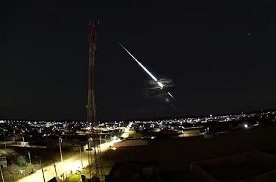 'Bola de fogo' é segundo meteoro a cair na Bahia esse mês