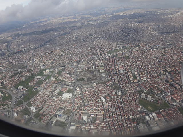 The bird's eye view of Istanbul which is the most populous capital city in Turkey and the country's economic, cultural and historic center