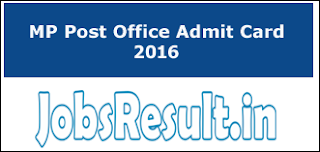 MP Post Office Admit Card 2016