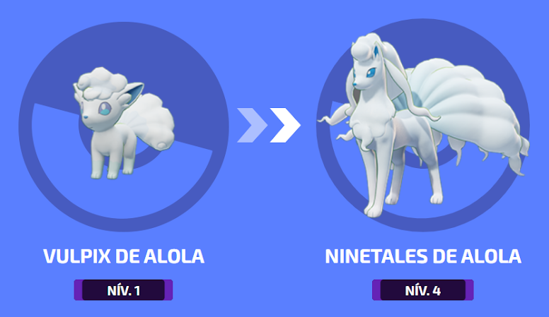 Pokémon Unite - Evolução de Ninetales de Alola
