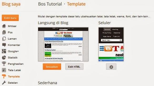 Cara Cepat dan Mudah Mengganti Template Blog