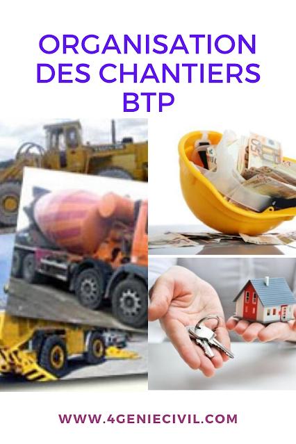 Organisation des chantiers BTP