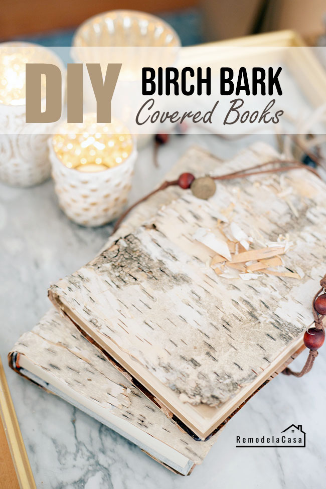 How to cover books with birch bark