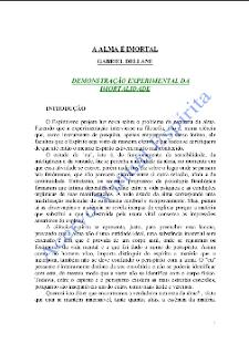 A Alma É Imortal pdf - Demonstração Experimental da Imortalidade (Gabriel Delanne)