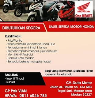 Sales Sepeda Motor Honda di CV Duta Motor