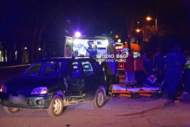 Τροχαίο ατύχημα με τραυματισμό οδηγού μηχανής στο Ναύπλιο