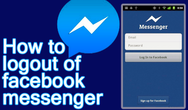 how to log out of messenger on iphone
