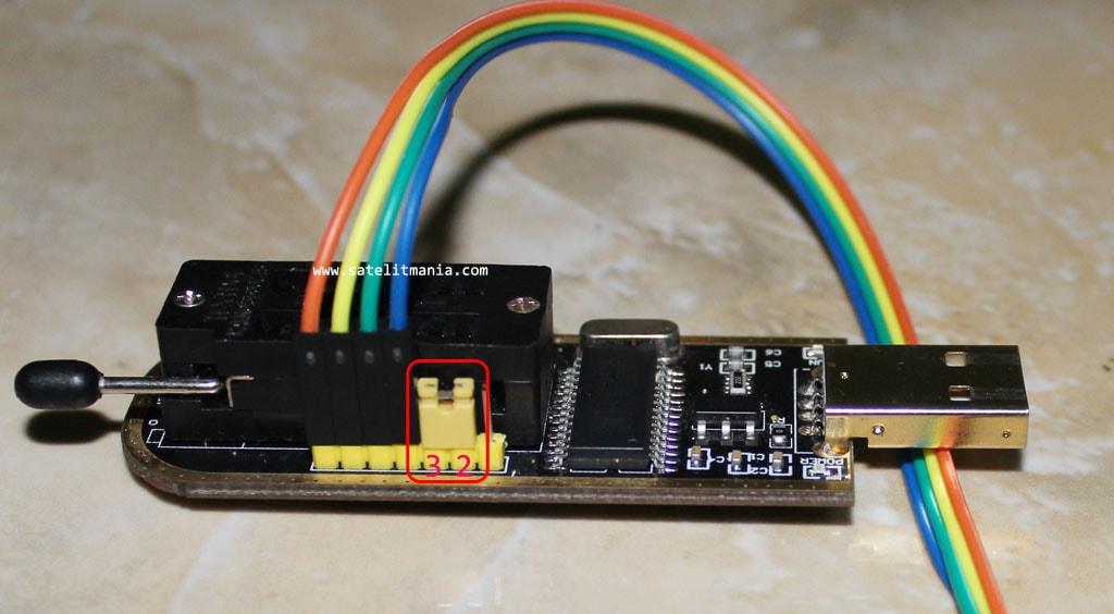 Melakukan flashing IC SPI 25xxx dan Serial 24xxx