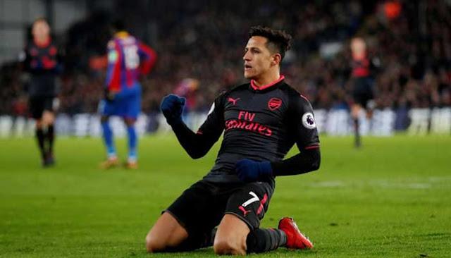 Arsenal Menang Tipis Skore 3-2 Lawan Crystal Palace