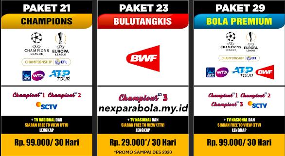 Distributor Voucher TV Nex Parabola