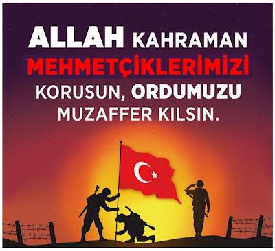 Allah Kahraman Mehmetçiklerimizi Korusun, Ordumuzu Muzaffer Kılsın, amin, türk askeri, dua, türk, mehmetçik, bayrak, türk bayrağı, nöbet, ordu, TC, türkiye