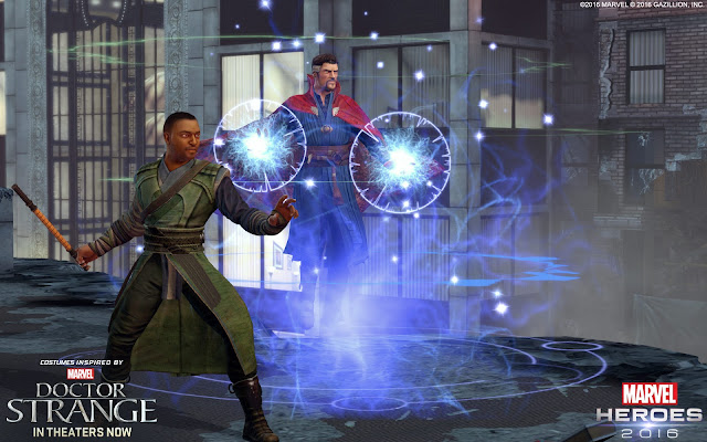 Promotional image for Marvel Heroes 2016 with Doctor Strange