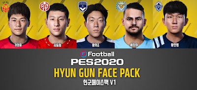 PES 2020 Facepack 1 by Hyun Gun