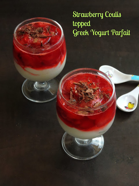 Strawberry Coulis Yogurt Parfait,Greek Yogurt Parfait
