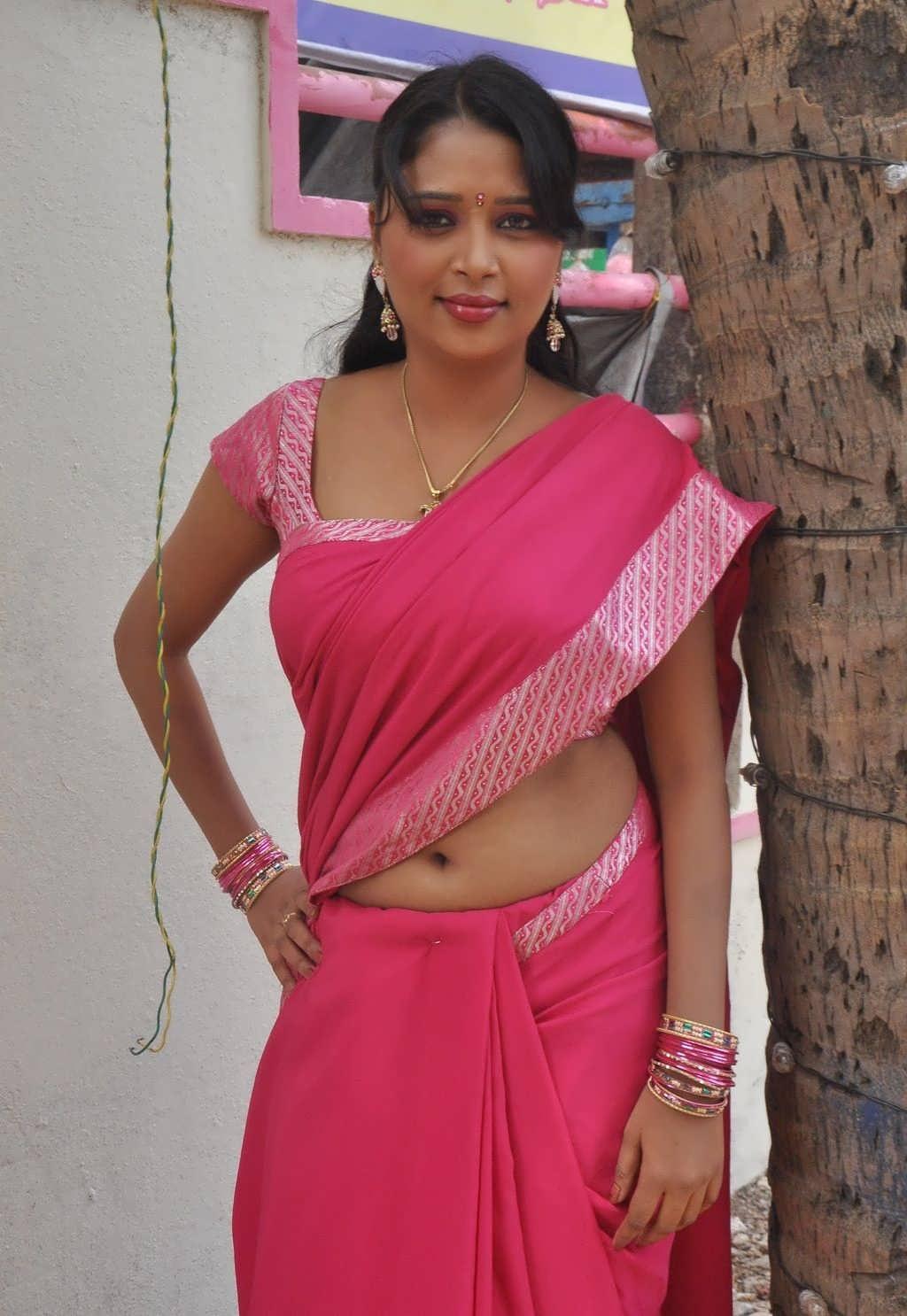 Saree Navel: Film Actress India: Jothisha Hot Saree Navel Show