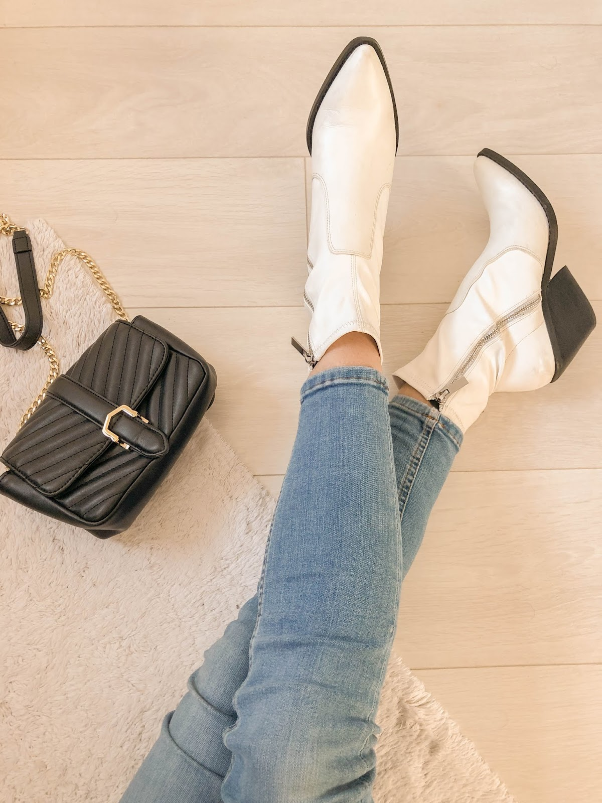Topshop Mission Ankle Boots in White