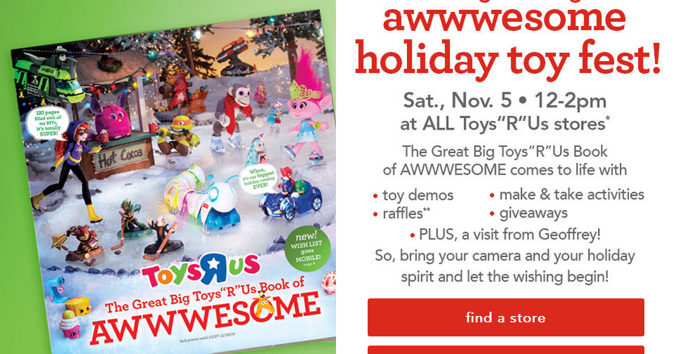 Toys We Got For The Holidays : Momstips save toys r us holiday toy fest event