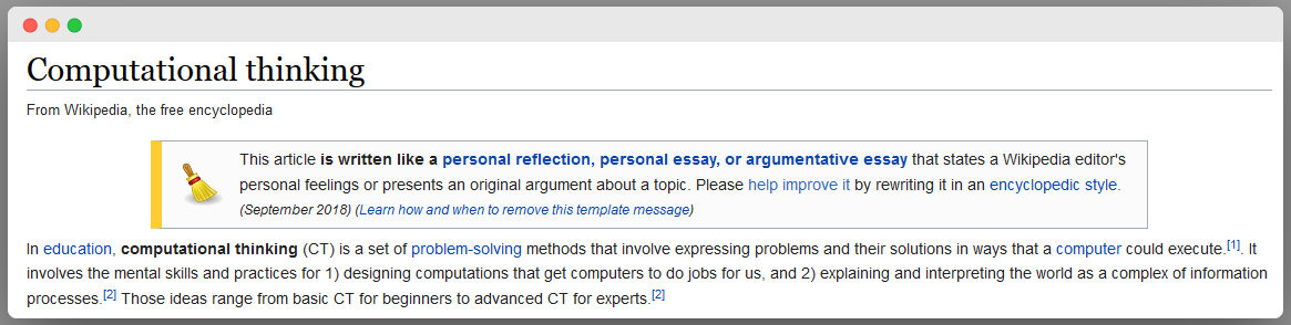 computational thinking skill