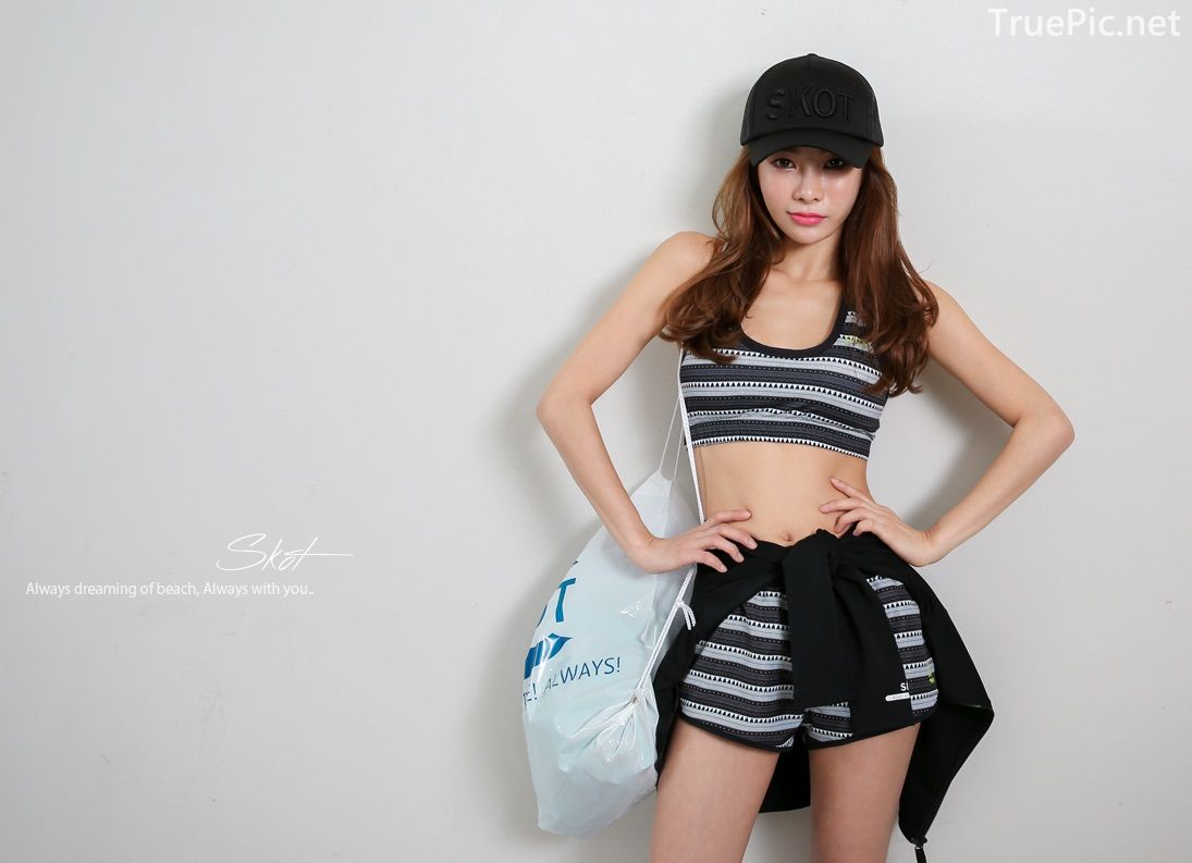 An Seo Rin - Short Shorts Fitness set - Korean model and fashion - Picture 2