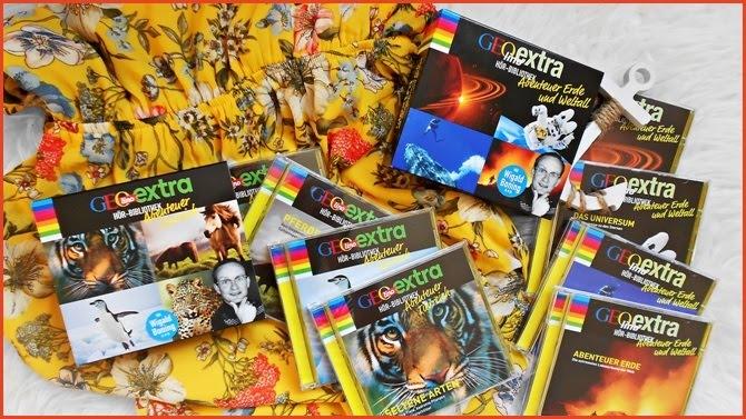 GEOlino Extra Hörbibliothek Abenteuer Erde und Weltall Abenteuer Tierreich Boxen