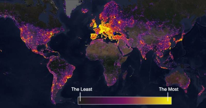 Map of the Most frequently photographed places
