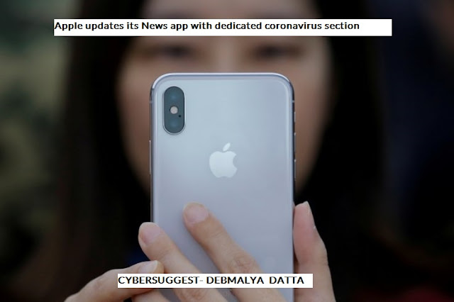 Apple updates its News app with dedicated coronavirus section