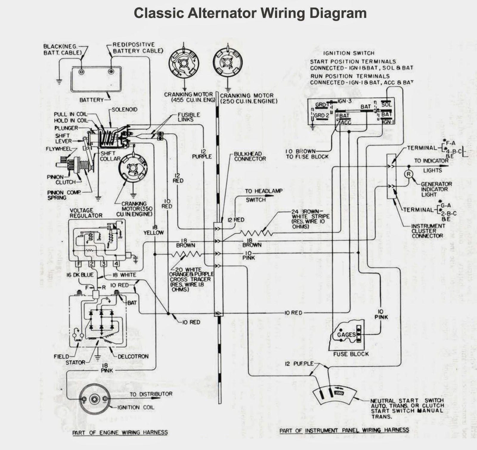 Old Car Alternator Wiring Diagram | Electrical Winding