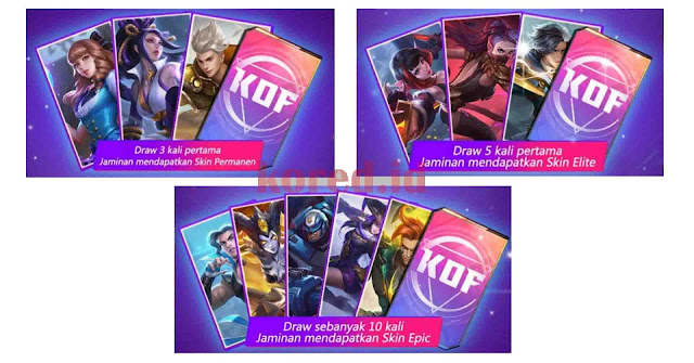 Cara Mendapatkan Skin Gratis Event KOF Mobile Legends