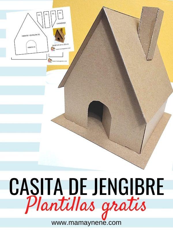 PLANTILLAS DE CASA DE JENGIBRE DE CARTÓN