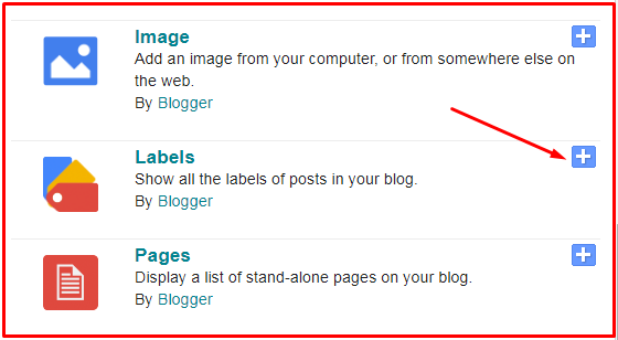 categories in blogger posts