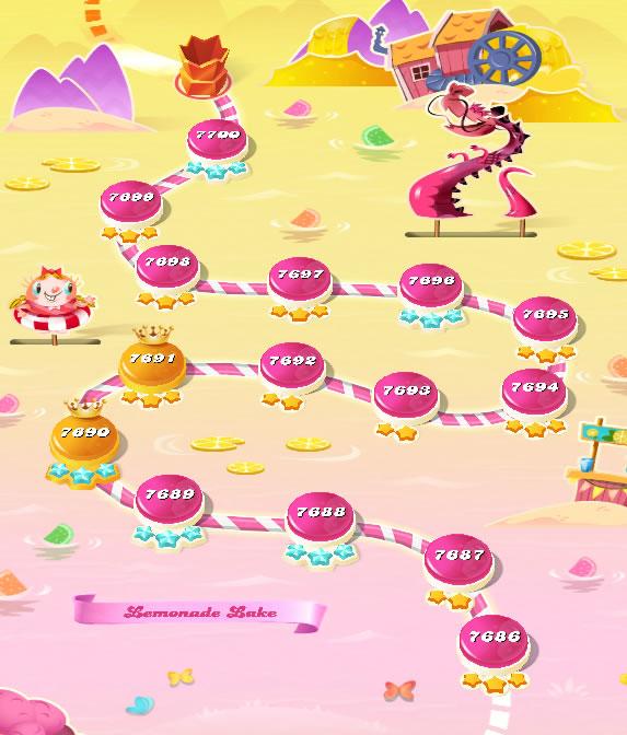 Candy Crush Saga level 7686-7700