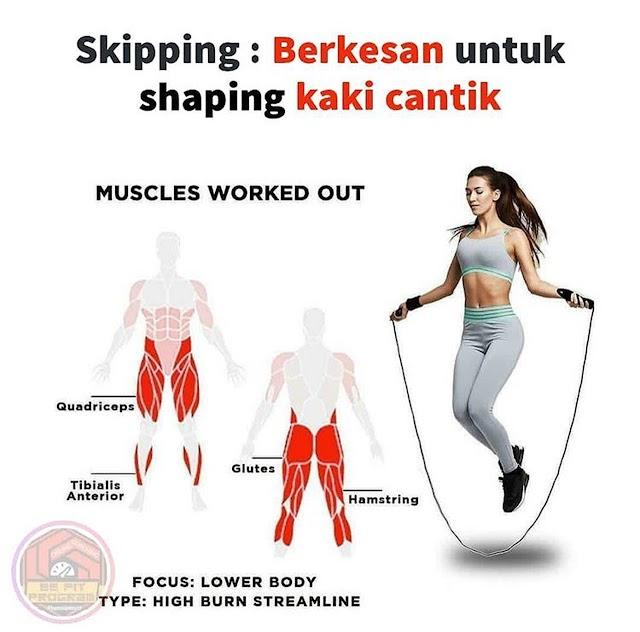 Selain Kurangkan Berat Badan, Jump Rope/Skipping Mencantikkan Kaki Juga