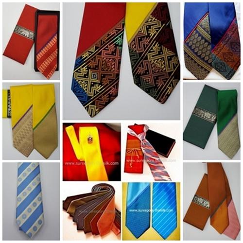 สุรีย์ภรณ์ไหมไทย, สุรีย์ภรณ์ไทยซิลค์ ผลิตภัณฑ์เนคไทโอทอปสินค้าระดับ 5 ดาว Premium  silk 100 เปอร์เซ็นต์ ผ้าไหม Grade A Jim Thomson